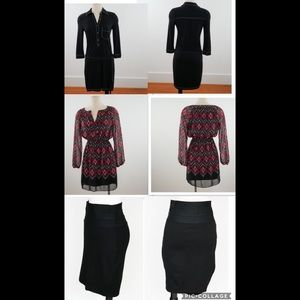 Max Studio Bundle 2 Dresses & 1 Skirt Size XS